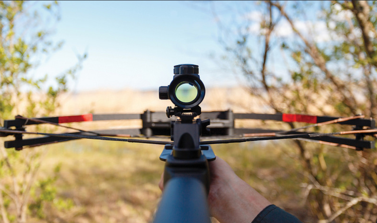shooting with crossbow